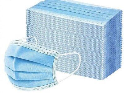 50 Pcs Mascaras Desechables Para La Cara Protection Contra Bacterias Mascarillas