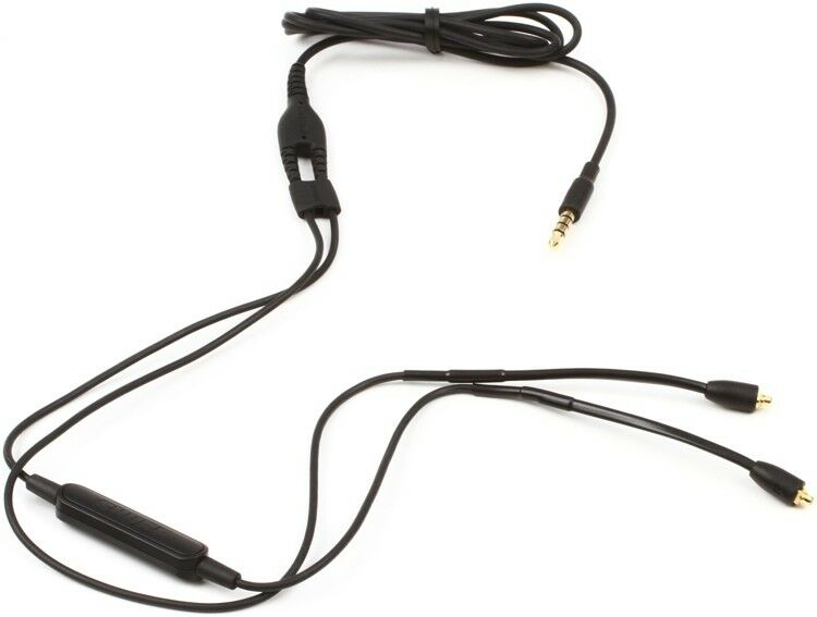Compatible with iPhone//Android REYTID Replacement CBL-M+-K-ESF Cable Compatible with Shure SE215 SE425 SE535 SE846 SE315 w//Inline Remote Volume Control and Microphone