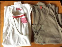 2x Women T-Shirt Vest Top: Superdry/Esprit, Medium