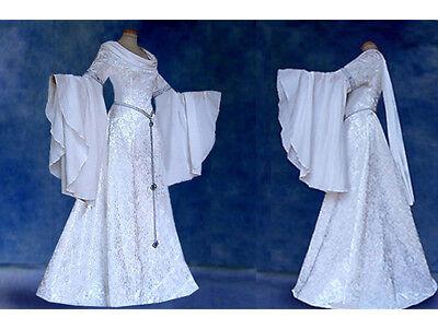 Elfenhaftes Brautkleid INIS Elfenkleid Mittelalter Elben Eowyn - Arwen Kostüm Weiß
