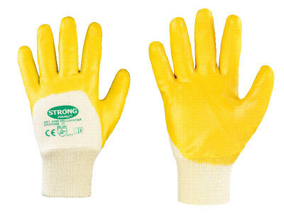 1-288 Paar Nitril Gartenhandschuhe gelb Arbeitshandschuhe Handschuhe