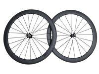 Carbon Bike Bicycle Wheels Wheelset 700c Road Racing 52mm Clincher New Matt black