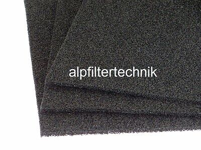 Filterkohle Kohle Schaumstoff Filtermatte 0,5x0,5 m Dicke 5mm PPI 30 mittel-fein
