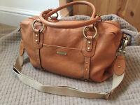 Storksak Elizabeth Changing Bag – Tan Leather