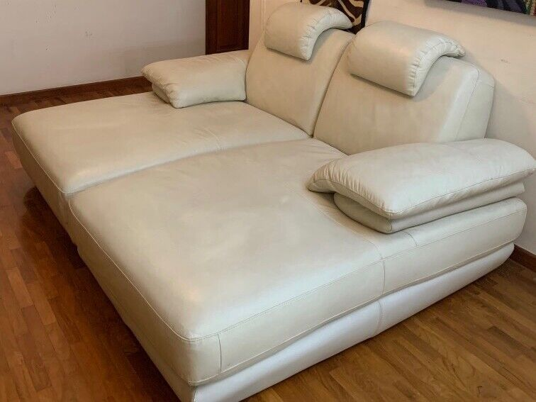 Chaise Lounge Sofa Couple Set Genuine Leather -Free Delivery!