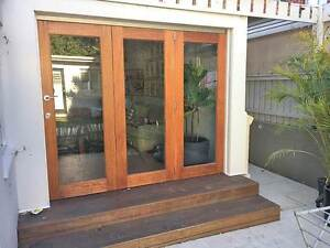 TIMBER BI-FOLD STACKER DOORS, TOP-HUNG, STAINED, OILED Randwick Eastern Suburbs Preview