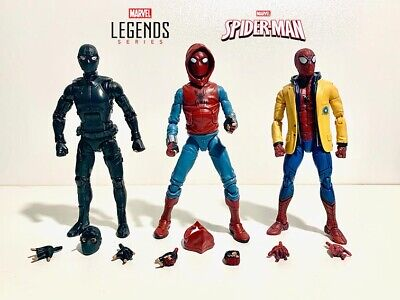 SPIDER-MAN Marvel Legends Lot Homemade Homecoming Yellow Jacket Stealth Suit