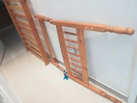 USED PINE SINGLE BED FRAME