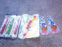 A collection of brand new toothbrushes