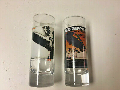Led Shot Glasses (Set of (2) LED ZEPPELIN Classic LP Tall SHOT GLASSES)
