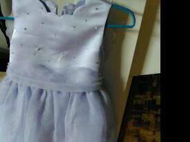 Girls lilac occasion dress