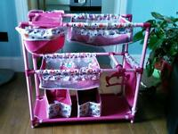 Kids double buggy and cot set
