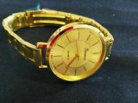 NEW Geneva men Crystal Stainless Steel Analog Quartz Wrist Watch Bracele