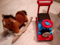 2 sets of Thomas the tank engine ride on& pony ride