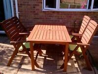 Garden table and chair set