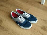 Vans Era Trainers, frost grey and dress blue. Size 9.5 (eu44)
