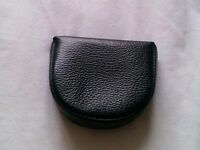Unisex Black leather Coin Wallet