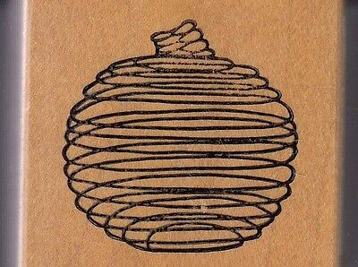 """spiral pumpkin alias smith… Wood Mounted Rubber Stamp 2 x 2""""  Free Shipping"""
