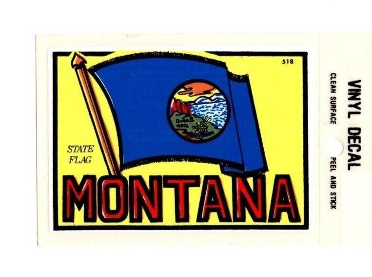Lot of 12 Montana State Flag Souvenir Luggage Decals Stickers - New - Free S&H