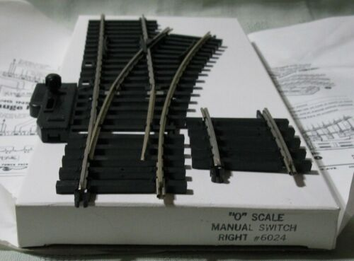 ATLAS O Scale Manual Switch Right # 6024 New in Box  With Directions
