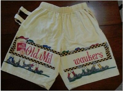 Old MilWaukers Vintage Collectible Yellow Old Milwaukee Shorts UNIQUE walkers