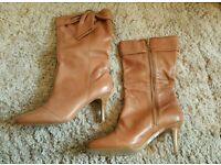 Evans tan wide fit boots size 7 BNIB