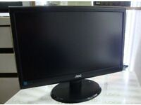 AOC 18.5 inch Widescreen LED Monitor Boxed as New