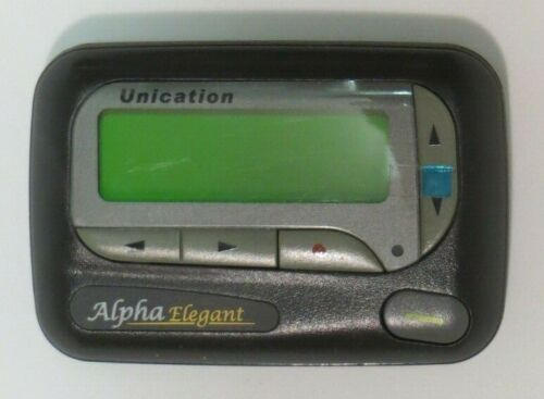 Unication Alpha Elegant VHF Alphanumeric Pager 150.695 MHz