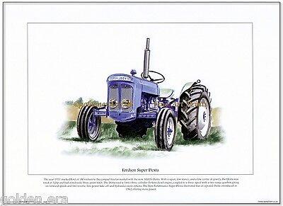 FORDSON SUPER DEXTA - FINE ART PRINT - New Performance tractor - Perkins Diesel