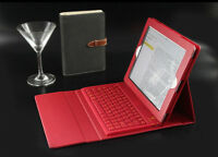 Brand new PU leather iPad case with silicon Bluetooth keyboard