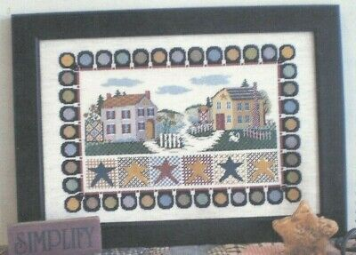 KINDRED SPIRITS--Linda Myers--2 Houses--Stars--Counted Cross Stitch Pattern ()