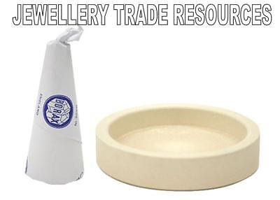 BORAX CONE & CERAMIC DISH to create FLUX FOR SOLDERING GOLD OR...