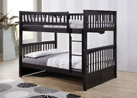 Double/Double Hardwood Bunk Bed - Duncan - by Bunk Beds Canada