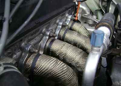 Mishimoto Exhaust Heat Wrap 2in X 35ft for Headers Cats Mufflers All Piping