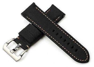 24mm Kevlar Echtes Leder Uhrenarmband/Armband Buckle Watch Band Strap für