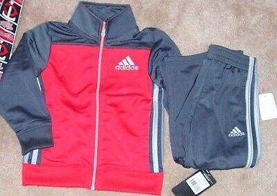 NEW ADIDAS Little Boys Warmup Jacket Coat 4 Pants NEW NWT ()