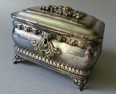 JUDAIKA Dose ETRAG  Box Silberauflage  Fraget W Warszawie Silver Plated