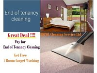 Free carpet Cleaning !!!! With End of Tenancy cleaning- £15 per room