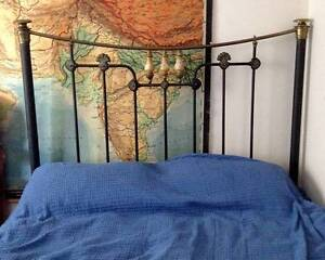 Bed - antique cast iron queen size *SOLD pending pick up* Brunswick Moreland Area Preview