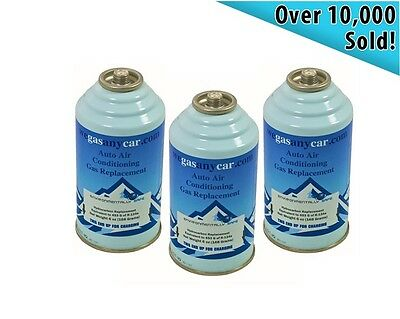 Car Aircon Air Con Air Conditioning Top Up Recharge Refill Regas Can x 3 DIY Gas