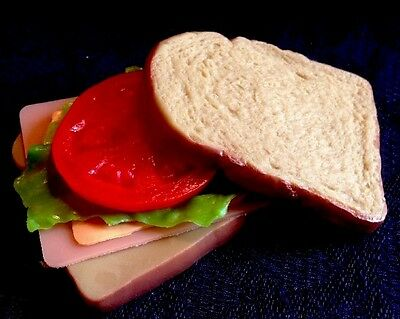 Realistic Artificial Imitation Faux Fake Play Food  Replica SANDWICH Props MTC