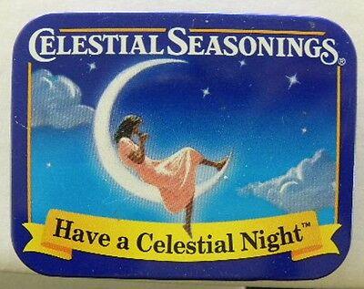 Celestial Seasonings Have a Celestial Night / Girl on Moon  Miniature Tea Tin