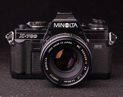 Minolta X-700 Manual Film Camera with Rokkor 50mm f/1.7 Lens
