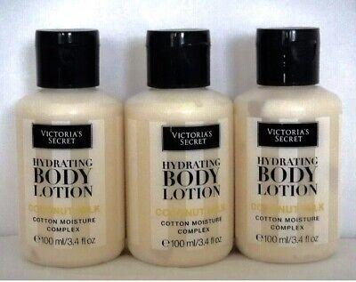 Victoria Secret Coconut Milk Body Lotion 3.4 Oz X 3 Bottles Les (travel Size) Coconut Milk Body Lotion