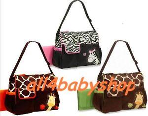 New-3pcs-Giraffe-Zebra-Baby-Nappy-Changing-Bags-Large-Sizes-3-Designs-NEW