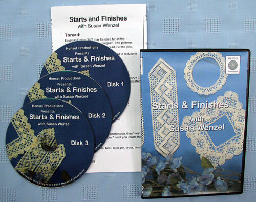 Starts & Finishes Bobbin Lace Making Instructional DVD Set with Susan Wenzel