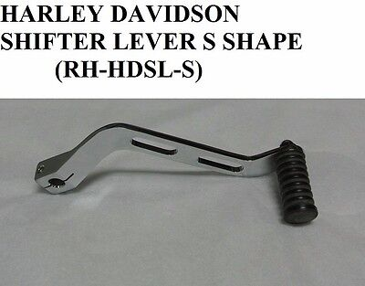 Harley Davidson Curved Shifter Lever - Stainless Steel