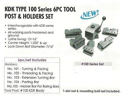 Kdk Style 100 Series 6 Pc Lathe Tool Post Set