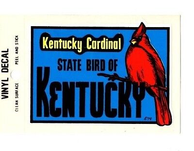 Lot of 12 Kentucky State Bird Souvenir Luggage Decals Stickers - New - Free S&H