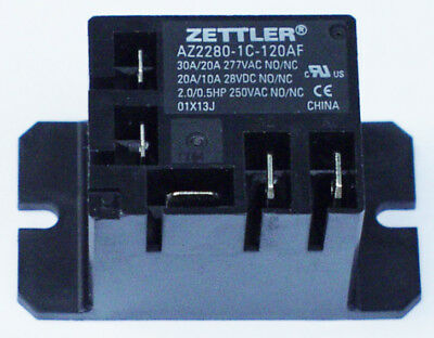 Zettler Mini Power Relay Spdt 120v 30a Az2280-1c-120af